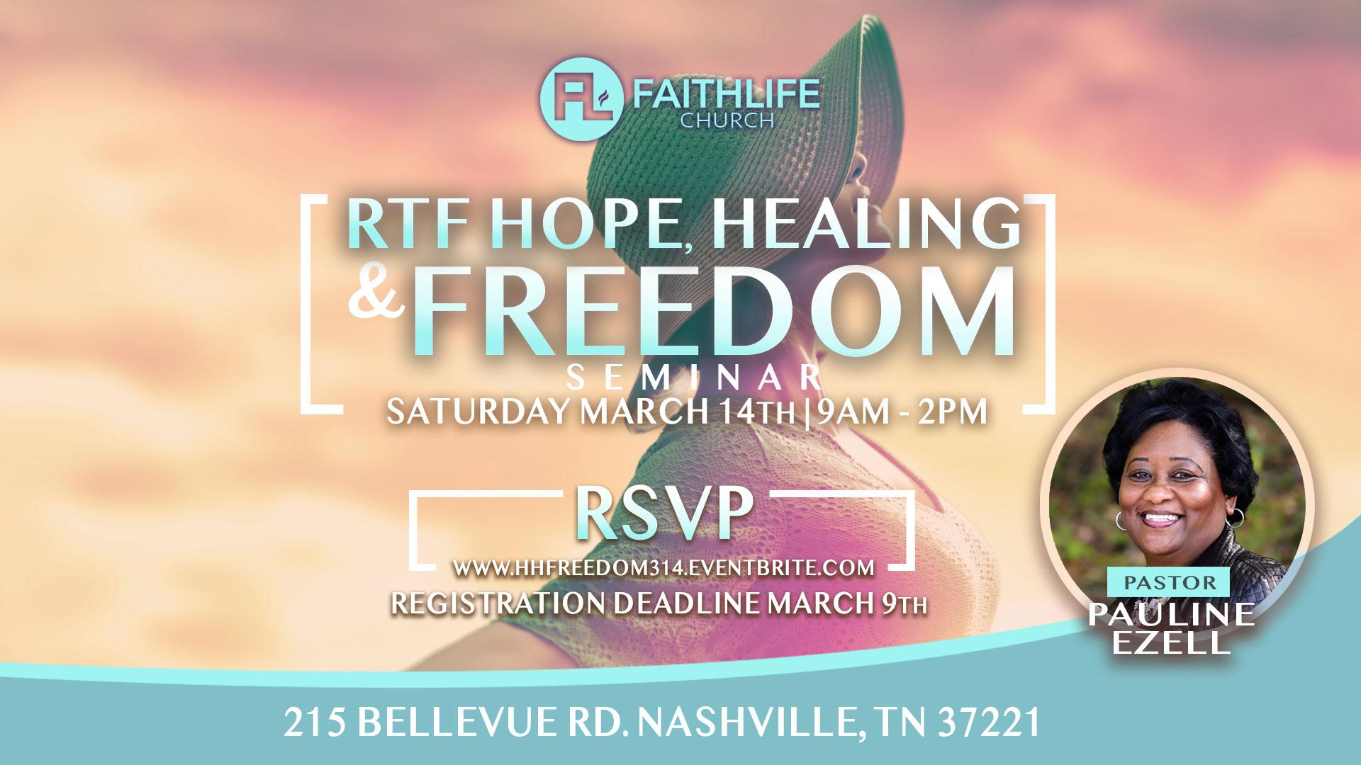 RTF Hope Healing & Freedom 2020